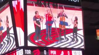 O, Canada and Star Spangled Banner for string quartet (live @ NBA)