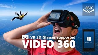 Video 360 supports 3D VR Headsets and Cardboards - Windows apps