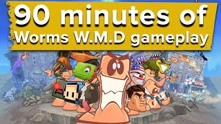 90 minutes of Worms WMD PS4 gameplay - Eurogamer Wednesdays
