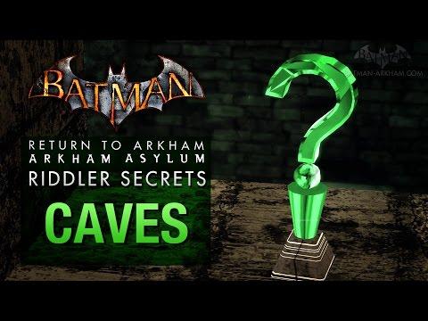 Batman: Return to Arkham Asylum - Riddler's Challenge - Caves (All Collectibles)