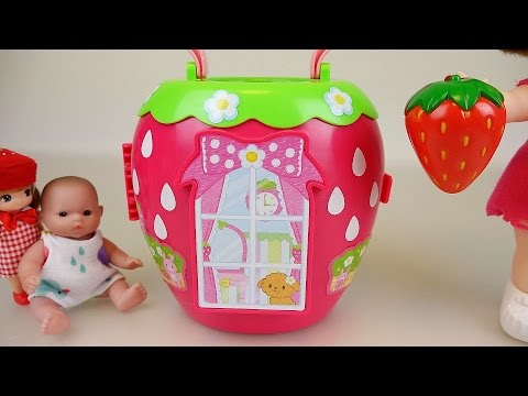 Baby Doll Strawberry house toy