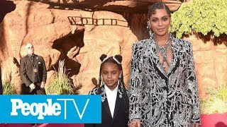 Beyoncé Rocks Matching Sparkly Looks With Daughter Blue Ivy At The Lion King Premiere | PeopleTV