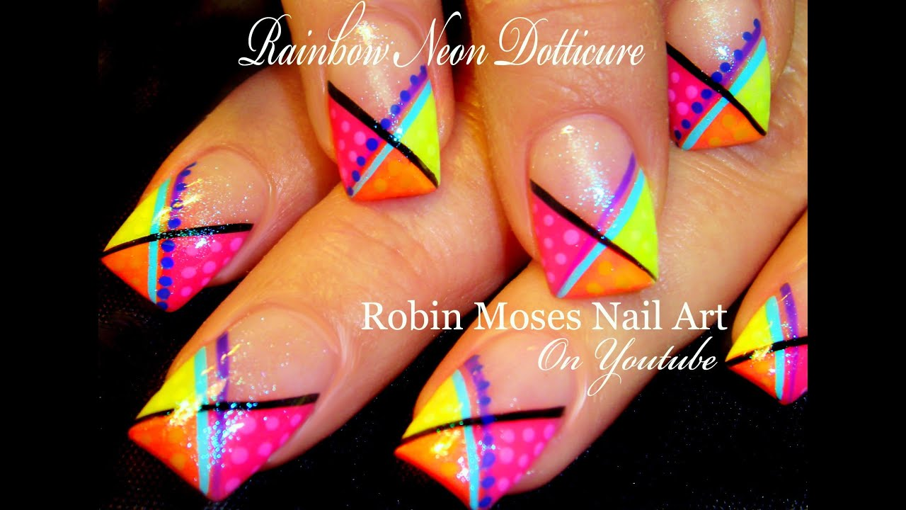 Neon rainbow chevron striped nails hot diy dotticure nail art neon rainbow chevron striped nails hot diy dotticure nail art youtube prinsesfo Image collections