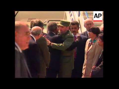 SWITZERLAND: CUBAN PRESIDENT FIDEL CASTRO ARRIVES IN GENEVA