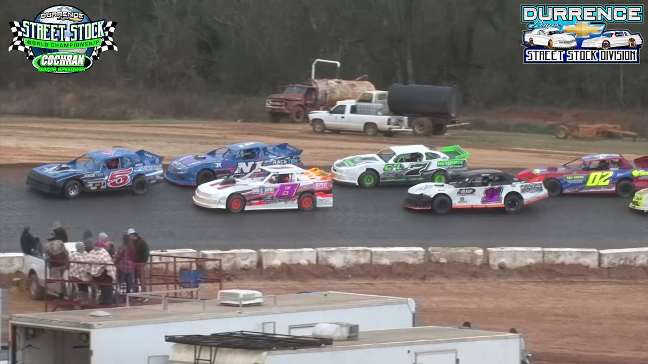 Cochran Motor Speedway 1-12-19 Durrence Layne Street Stock Division World Championship Feature