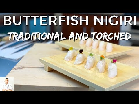 Japanese Butterfish Nigiri | Traditional And Torched