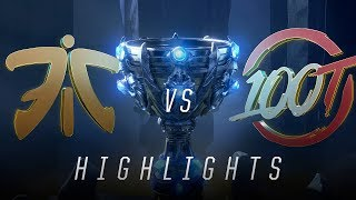 FNC vs. 100 - Worlds Group Stage Day 8 Match Highlights (2018)
