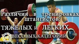 Training specifics for different weight classes/Разница тренировок штангистов Легких и Тяжелых весов