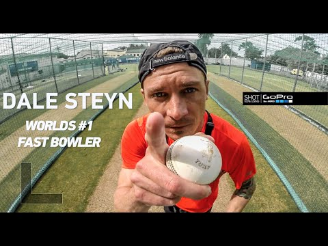 Dale Steyn attempts to break a GoPro!