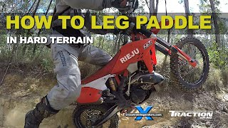 HOW TO LEG PADDLE EXTREME TERRAIN ON ENDURO BIKES: Cross Training Enduro Skills
