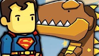 ⚡ DINOZAUR WALCZY Z SUPERMANEM - SUPERMAN SCRIBBLENAUTS UNMASKED PL