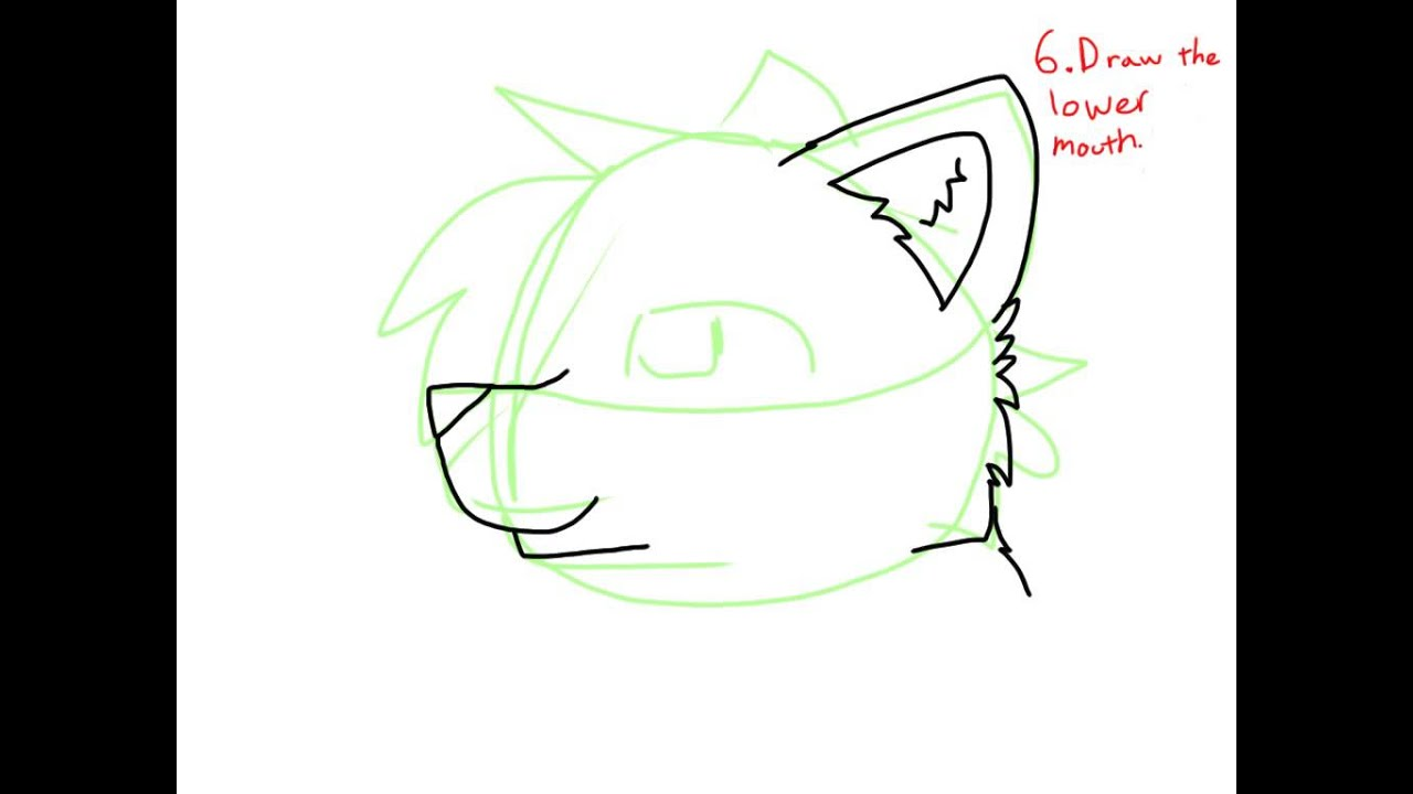 How To Draw A Side View Of A Cat