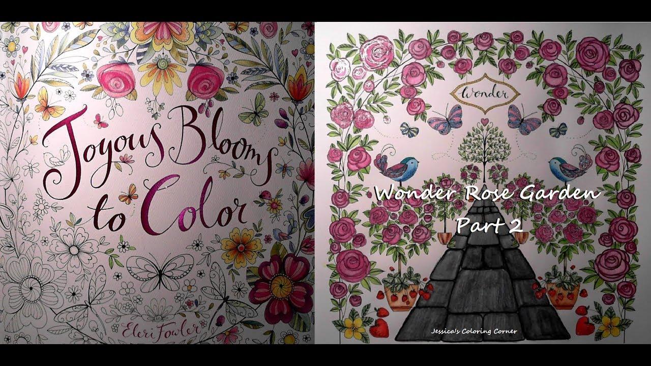 Inktense In Joyous Blooms To Color