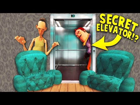 IS HELLO NEIGHBOR'S BROTHER BUILDING A SECRET ELEVATOR?! | Hello Neighbor Mobile Game Rip off
