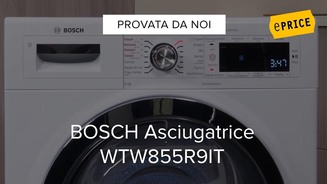 Video recensione asciugatrice bosch wtw855r9it youtube for Asciugatrice bosch opinioni