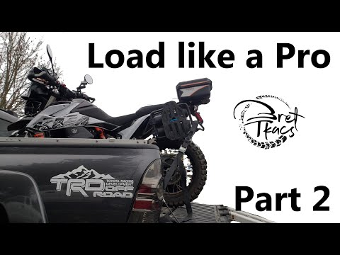 Securing a loaded motorcycle - KTM 790 Adventure r