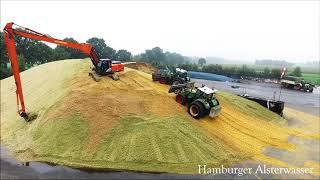 Maishäckseln 2017 Wir bauen uns ein klein Hügel  Fendt 4K