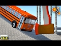Funny experiment crashes Pole, AXE, GRID BeamNG drive #3
