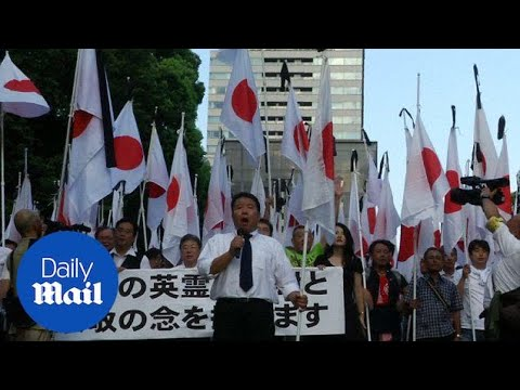 Japan nationalists march to mark end of World War II - Daily Mail
