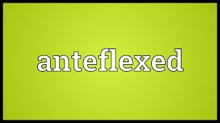Anteflexed Meaning