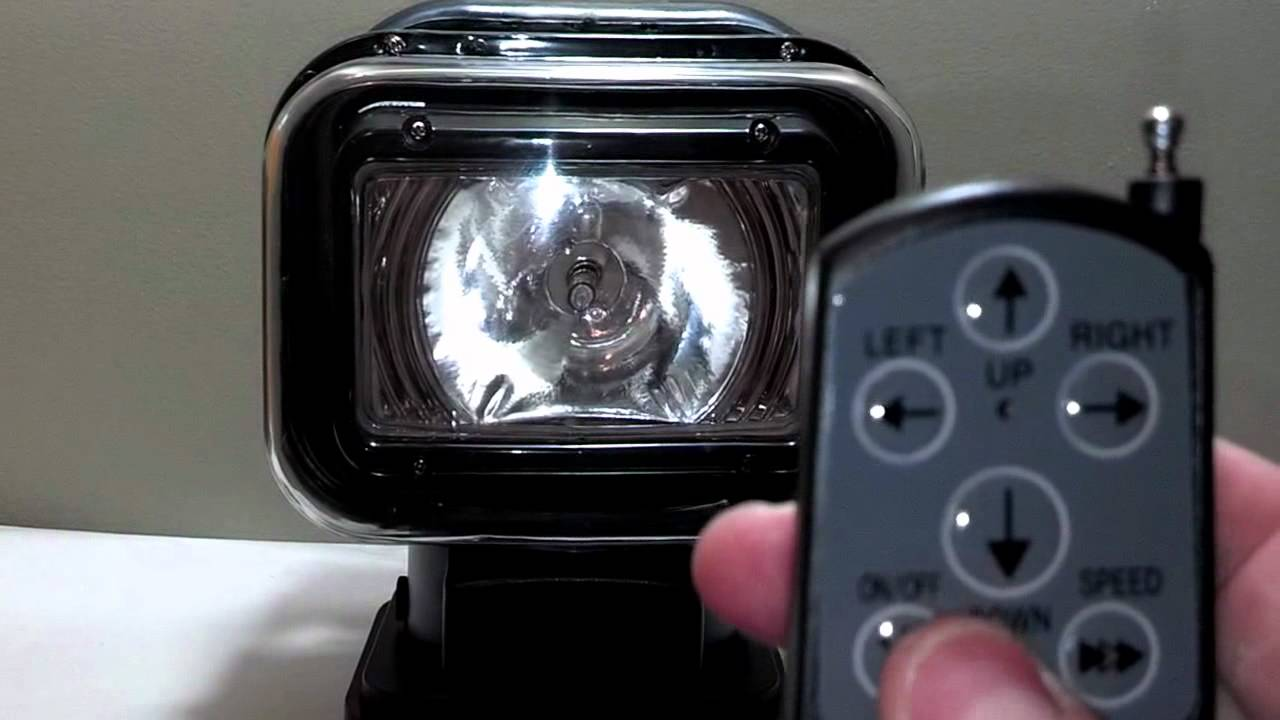 Hid Wireless Remote Vehicle Search Light Youtube
