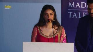 #KaatruVeliyidaiAudioLaunch : I will dream more because of #ManiRatnam sir - #AditiRaoHydari