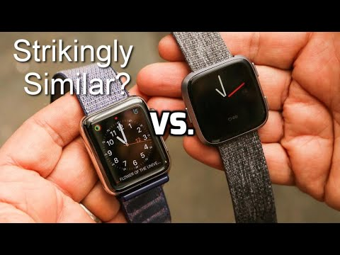 fitbit versa vs apple watch series 3