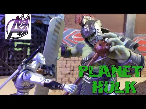 Planet Hulk- Hulk vs Thor [Stop Motion Film]