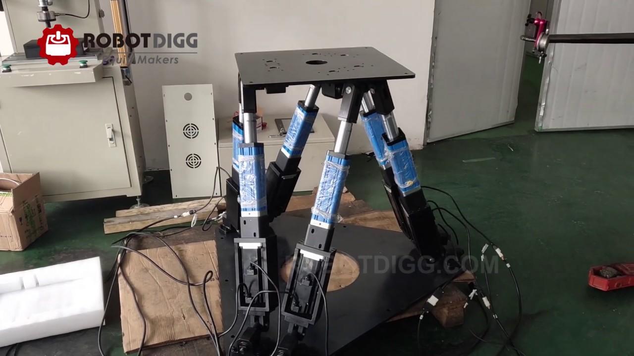 6 DOF simulation platform by RobotDigg Shanghai