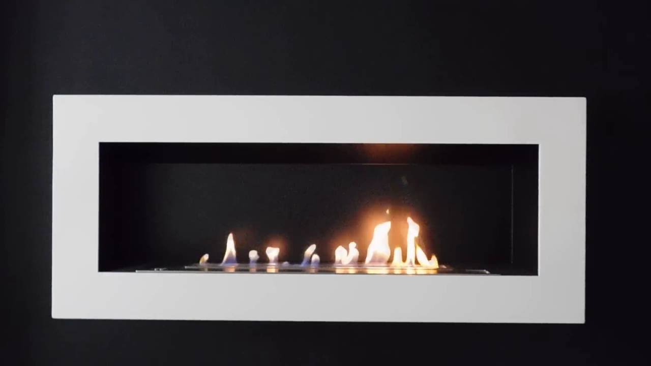 afire sasa xl smart automatic ethanol wall fireplace with remote
