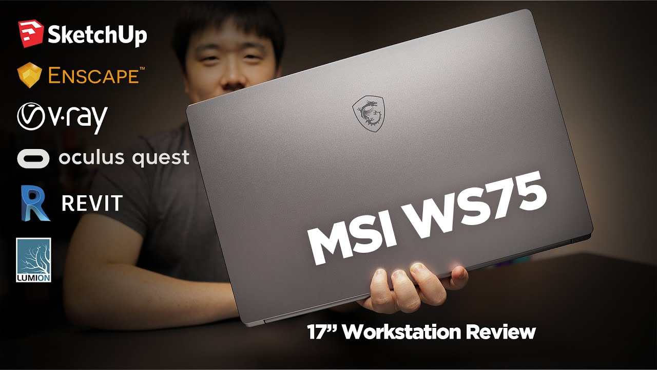 MSI WS75 Workstation Laptop Review - Testing for 3D Modeling, rendering, and VR
