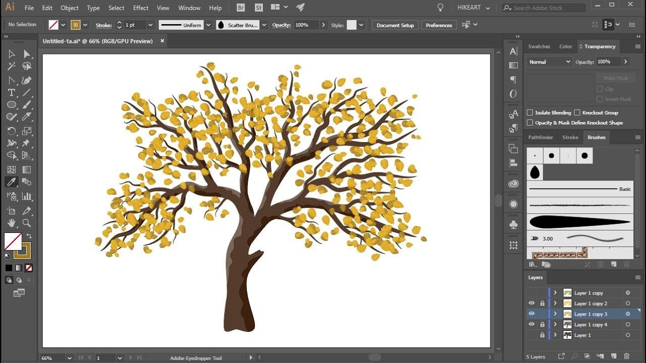 How to Create a Tree with Leaves in Adobe Illustrator ...