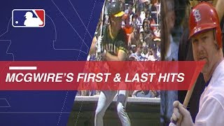 A look at Mark McGwire's first and last hits