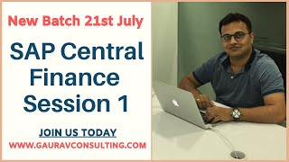 SAP Central Finance 1909 | New Batch started 21st July'20