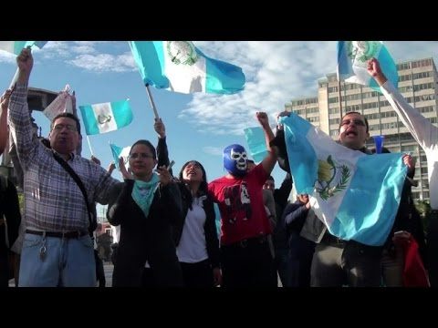 Guatemalans celebrate president's resignation