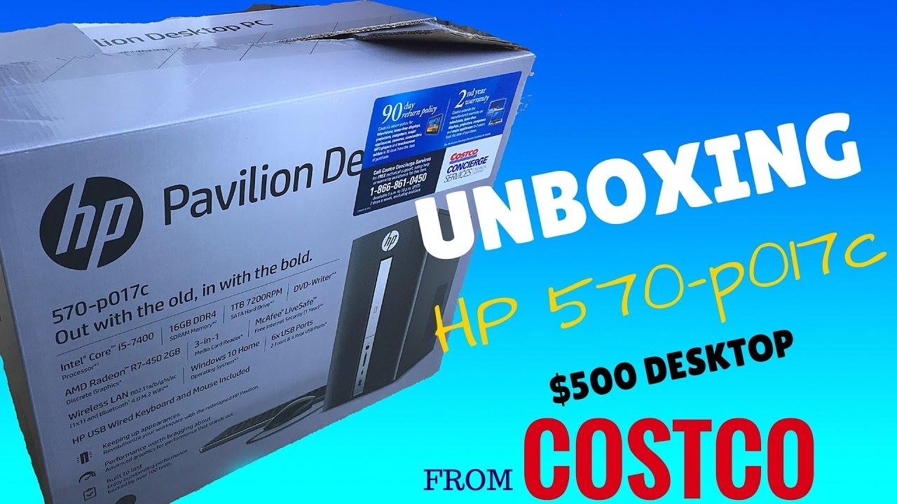 HP Pavilion 570-p017c Desktop Computer Unboxing