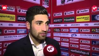 Reactie Alireza Jahanbakhsh na N.E.C.-Helmond Sport