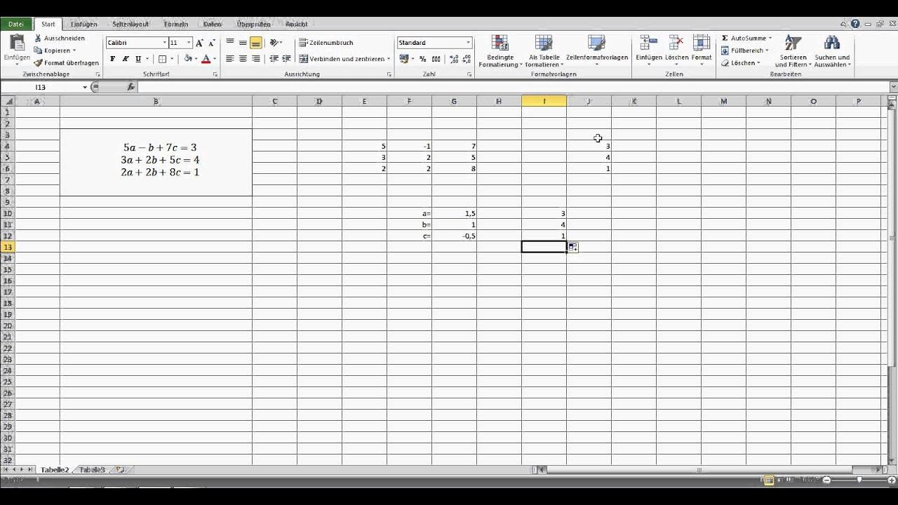 Lineare Gleichungssysteme in Excel lösen - Ein Mathe Trick in Excel ...