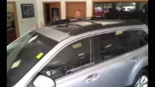 "Subaru Outback ""Built In Cross Bars Demonstration"" at Cedar Rapids Iowa Subaru Dealer"