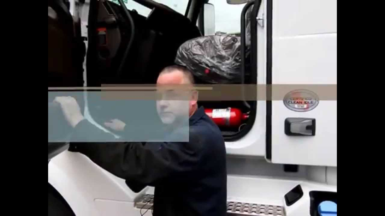 How to release the hood on a 2014 Volvo Truck - YouTube