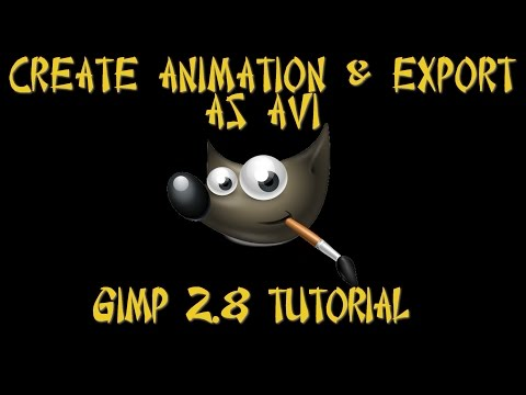 GIMP 2.8 | Create & Export Animation as an AVI Video | Method 1 2017 UPDATED AUDIO