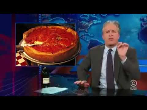 The Woody Show - Throwback: Jon Stewart's hilarious rant on Chicago style deep dish pizza