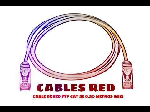 Video de Cable de red FTP CAT5E 0.50 M Gris