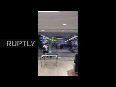 USA: Two shot outside mall near Salt Lake City