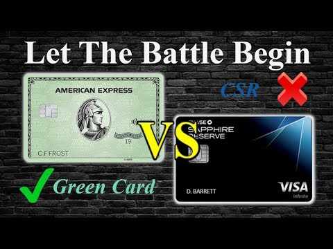 The American Express Green Card Is Better Than The CSR…………or Is IT?