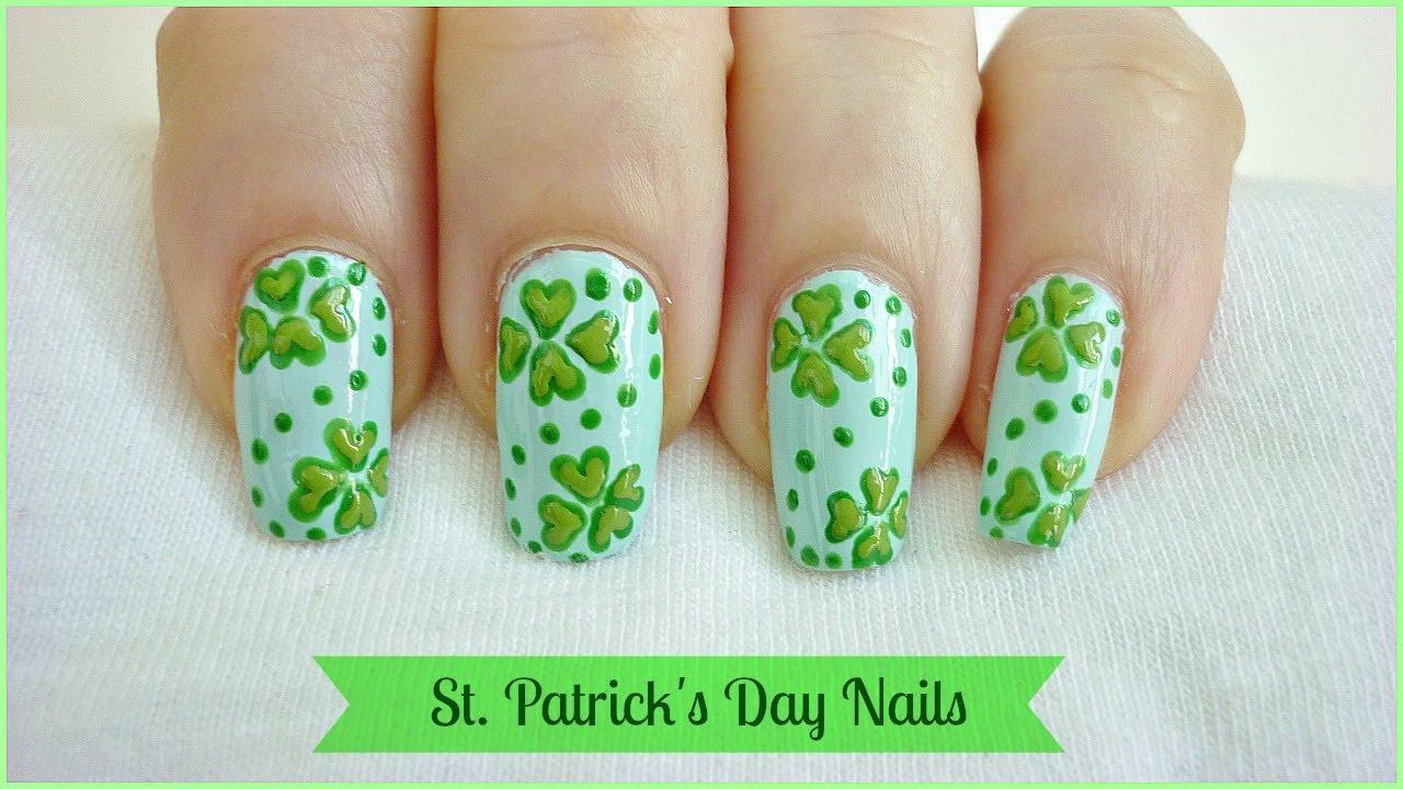 St. Patrick\'s Day Nail Art! - YouTube