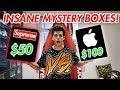 Mystery Boxes $50 Hypebeast Supreme Box vs $100 Apple Box INSANE LUCK !