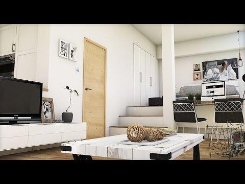 Dise o interior unificar ambientes apartamento 45m2 for Diseno de apartamentos de 45 metros cuadrados