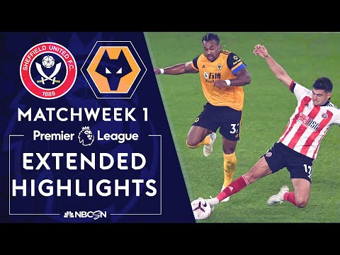 Sheffield United v. Wolves | PREMIER LEAGUE HIGHLIGHTS | 9/14/2020 | NBC Sports