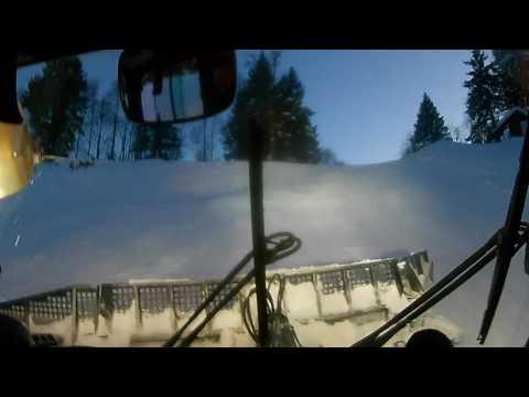 Fahrt mit der Pistenraupe/ Pistenbully in Österreich